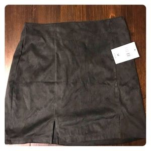 NWT Forever 21 Black Suede Slit Skirt